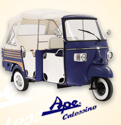 ape piaggio calessino italy motorcycle rental scooters. Black Bedroom Furniture Sets. Home Design Ideas